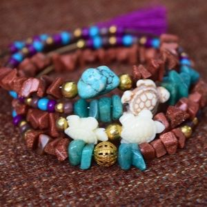 Jewelry - Sea turtle wrap bracelet